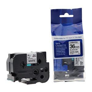 Brother TZ-261 NOIR / BLANC 36MM compatible
