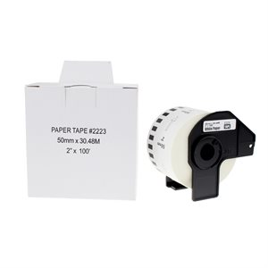 Brother DK-2223-Papier continu BLANC 50mm*30.48m compatible