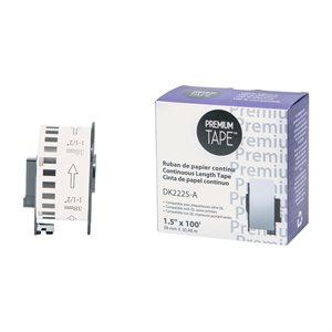 Brother DK-2225-Papier continu BLANC 38mm*30.48m compatible
