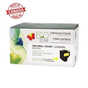 Lexmark CS310 / CS410 / CS510 701HY Reman Jaune EcoTone 3K